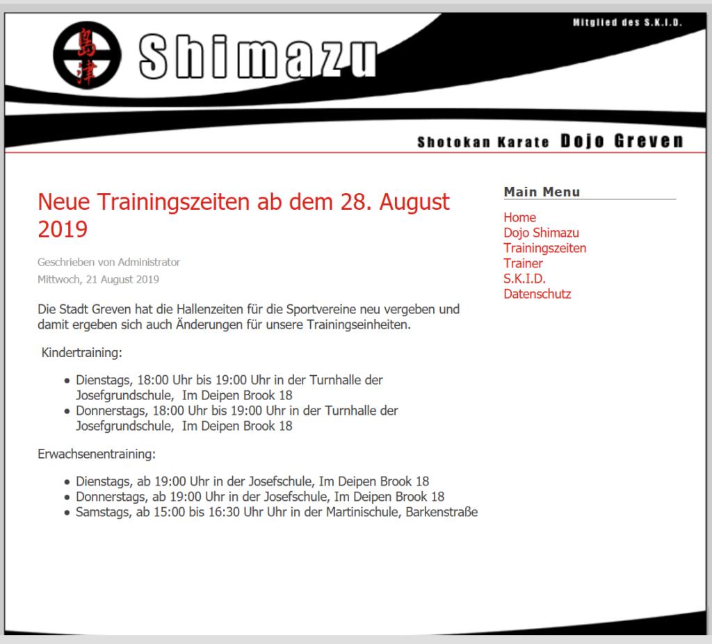 Altes Design 2004 - 2019